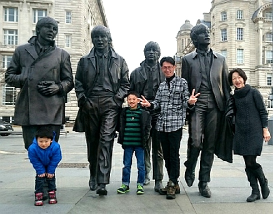 Be photographed with The Beatles in Liverpool