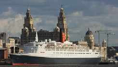 Cruise ship at the Liverpool waterfront
